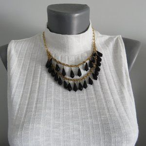 Kate Spade Black Crystal Two Tiered Necklace